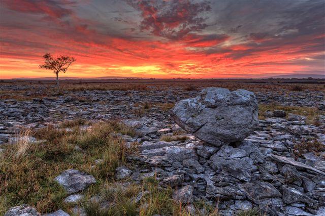 Autumn Sunrise, The Burren, County Clare, Ireland