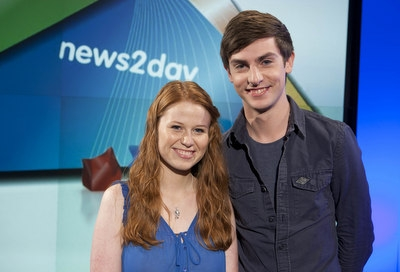 RTE News2Day presenters Orla Walsh and Conor McNally