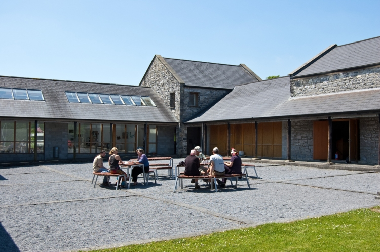 Burren College of Art Coutryard