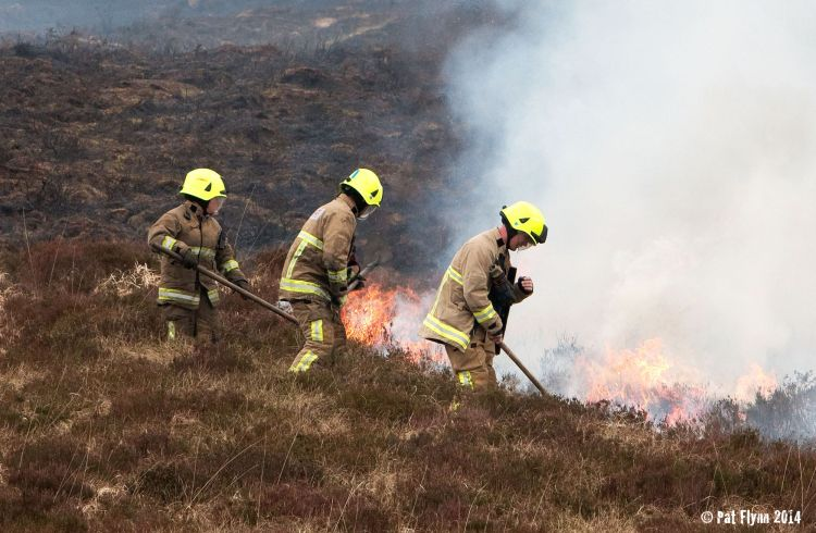 Firefighters from Clare County Fire and Rescue Service tackle a blaze