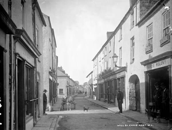 Mill St. (now Parnell St.) in Ennis County Clare in 1903