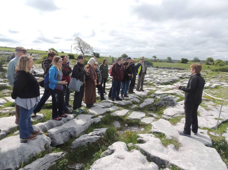 Field trip in the Burren and Cliffs of Moher Geopark yesterday