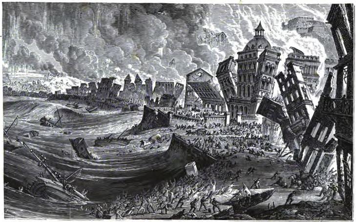 1775 Great Tsunami in Lisbon, Portugal
