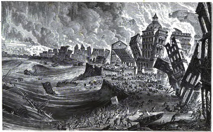 1775 Great Tsunami in Lisbon, Portugal