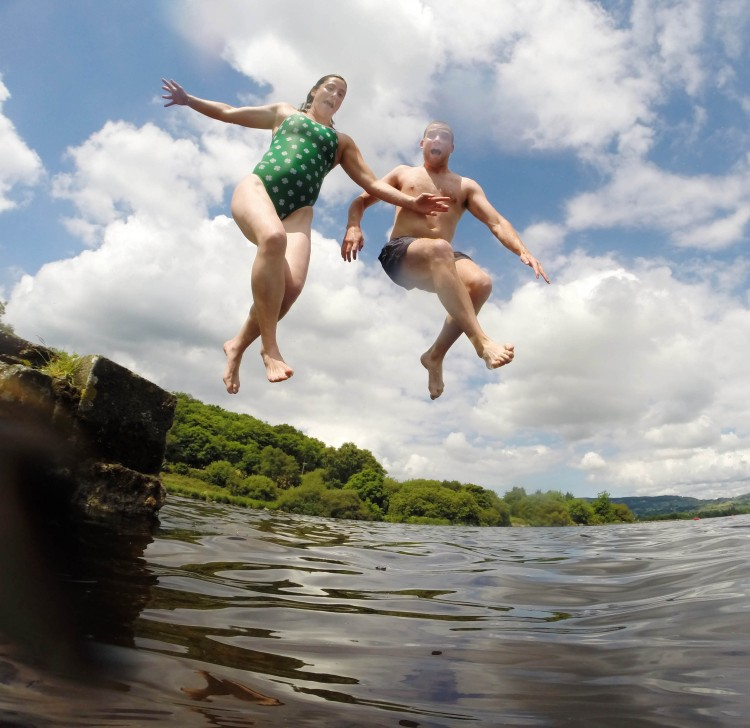 Rosie Foley from Killaloe and James Lynch from Ogonneloe, Co Clare. prepare for their epic 38k swim from Portumna to Killaloe. Picture:Marie McCallan/Press 22