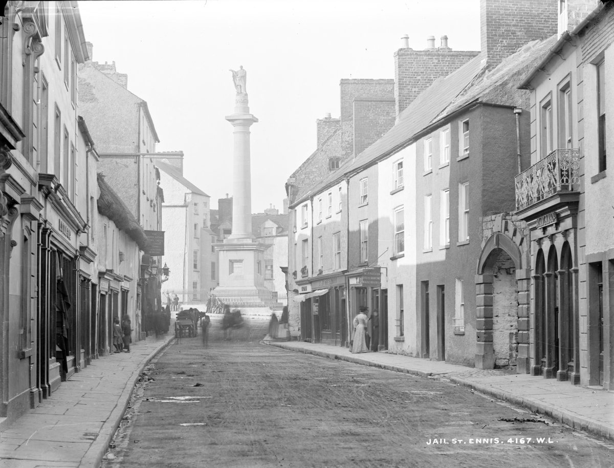 Old Images of Clare - Jail Street, Ennis, 1880