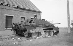 Destroyed German Jagdpanther near Geel, 13 September 1944, two days before Flanagan was killed in the town