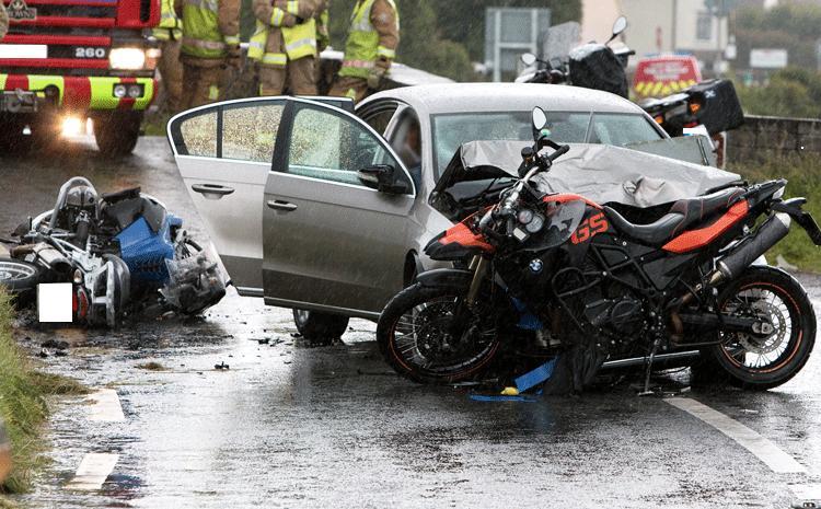 The scene of yesterday's collision on the N67 near Doonbeg - © Pat Flynn 2014