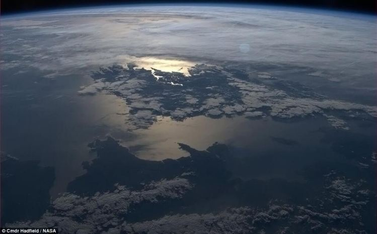This image of Ireland was taken on the 28th April 2011 at 18.30 GMT from the International Space Station as it passed over the UK.  County Clare is lit by moonlight