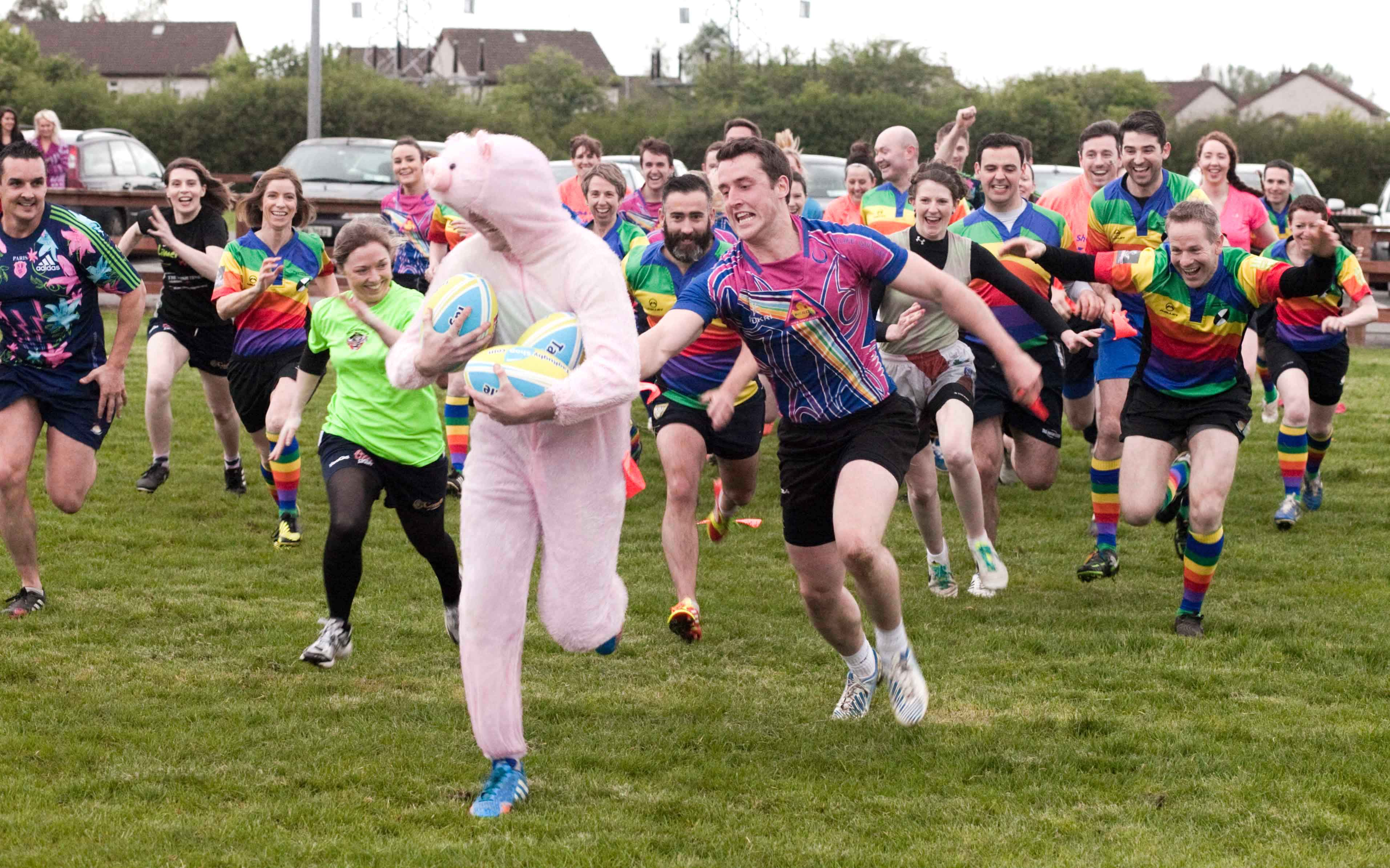 Pig 'n Porter Tag Rugby .  At the launch of the Pig n Porter 3 day international festival of Tag Rugby which will attract 2,500 players at Old Crescent Rugby club, Limerick.-  Picture: Kieran Clancy     15/5/2014