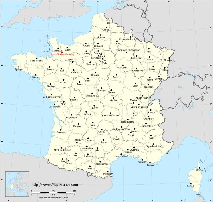 Saint-Charles-de-Percy on the map of french departments