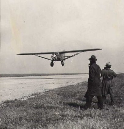 Taking off from Floyd Bennett Field, New York on 15th May 1934