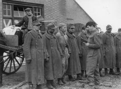 The photograph was taken after Polish troops captured the Dutch towns of Alphen and Gilza on 27th October 1944 after the Battle of Tilburg