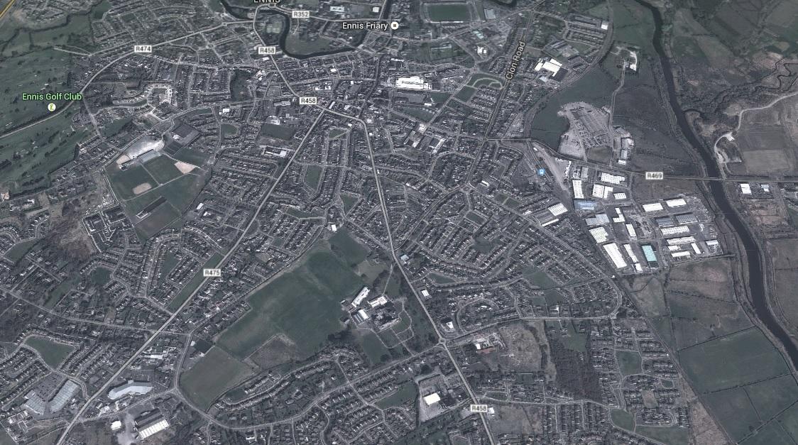 Ennis. Image c/o Google Earth