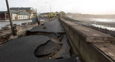 Damage to the promenade in Lahinch, Co. Clare. By Pat Flynn.