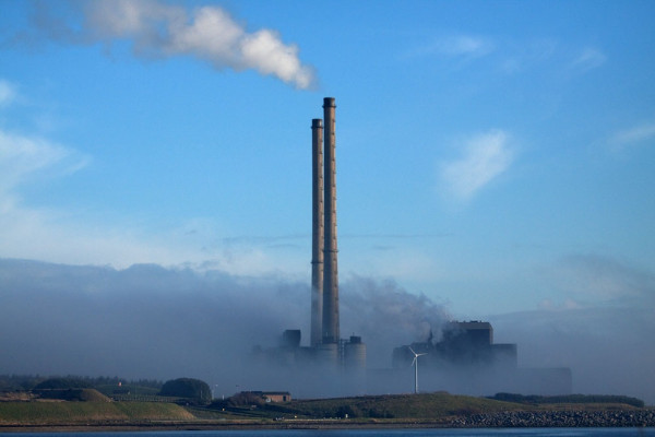 Fog shrouds the ESP Moneypoint power plant on the Shannon Estuary. Image Pat Flynn