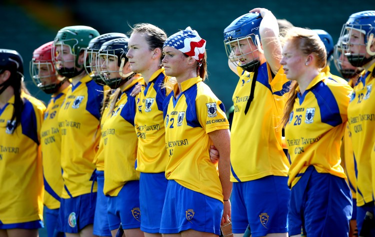 Clare stand for the national anthem 9/8/2014
