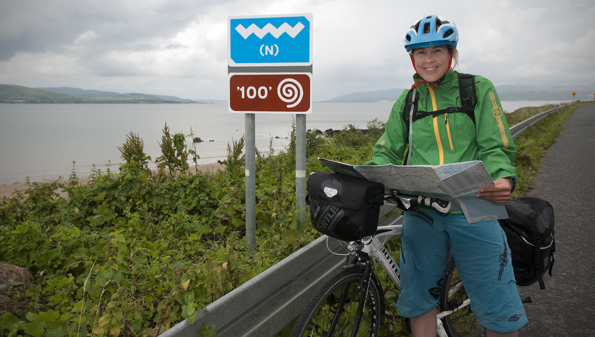 Finnish travel blogger Satu Vänskä-Westgarth (left), on her challenge to cycle the entire length of the Wild Atlantic Way.