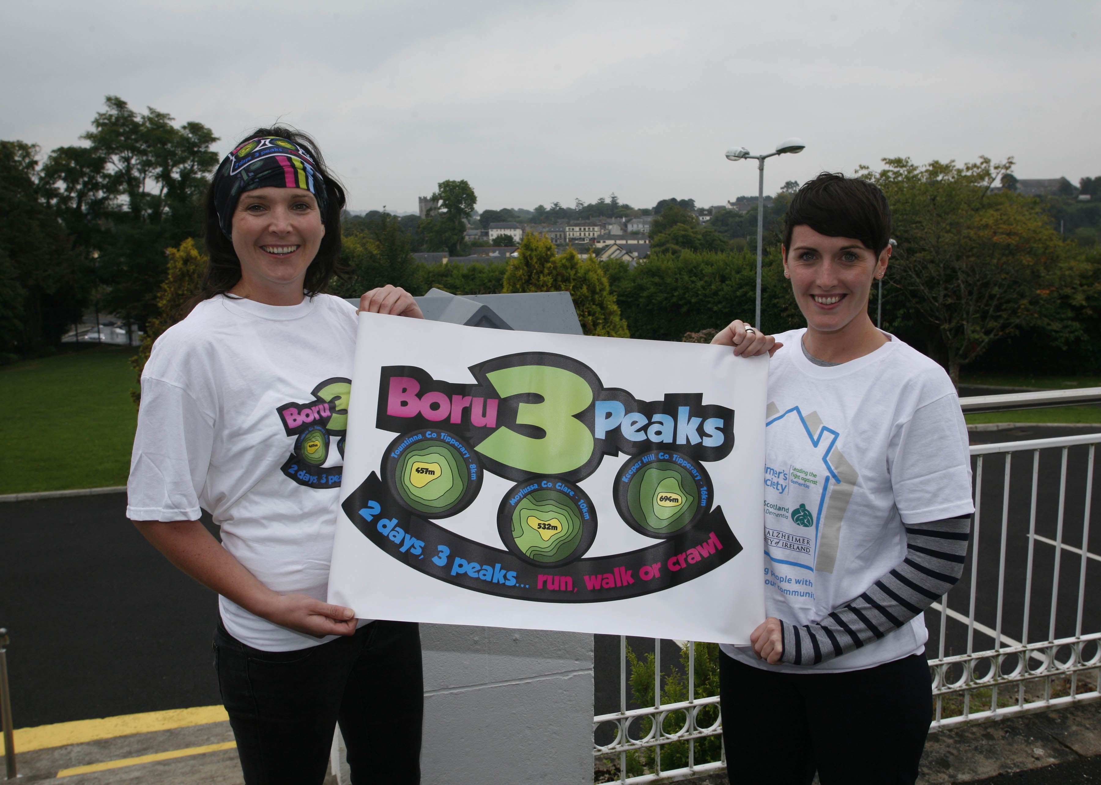 Orla Foley, Chairperson Boru 3 Peaks and Aifric Devane Assistant Director of Nursing at Watermans Day Care Centre for Alzheimers Ireland, Killaloe. Pictured at the launch of Boru 3 Peaks 2014.