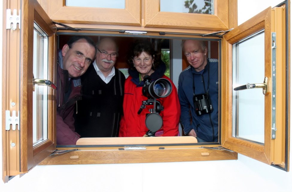 Denis Minogue (Mountshannon Eagle Group), Gerard Dollard (Clare County Council), Dawn Livingstone (Waterways Ireland) and Dr. Alan Mee (Golden Eagle Trust) pictured at the White Tailed Sea Eagles Viewing & Information Point