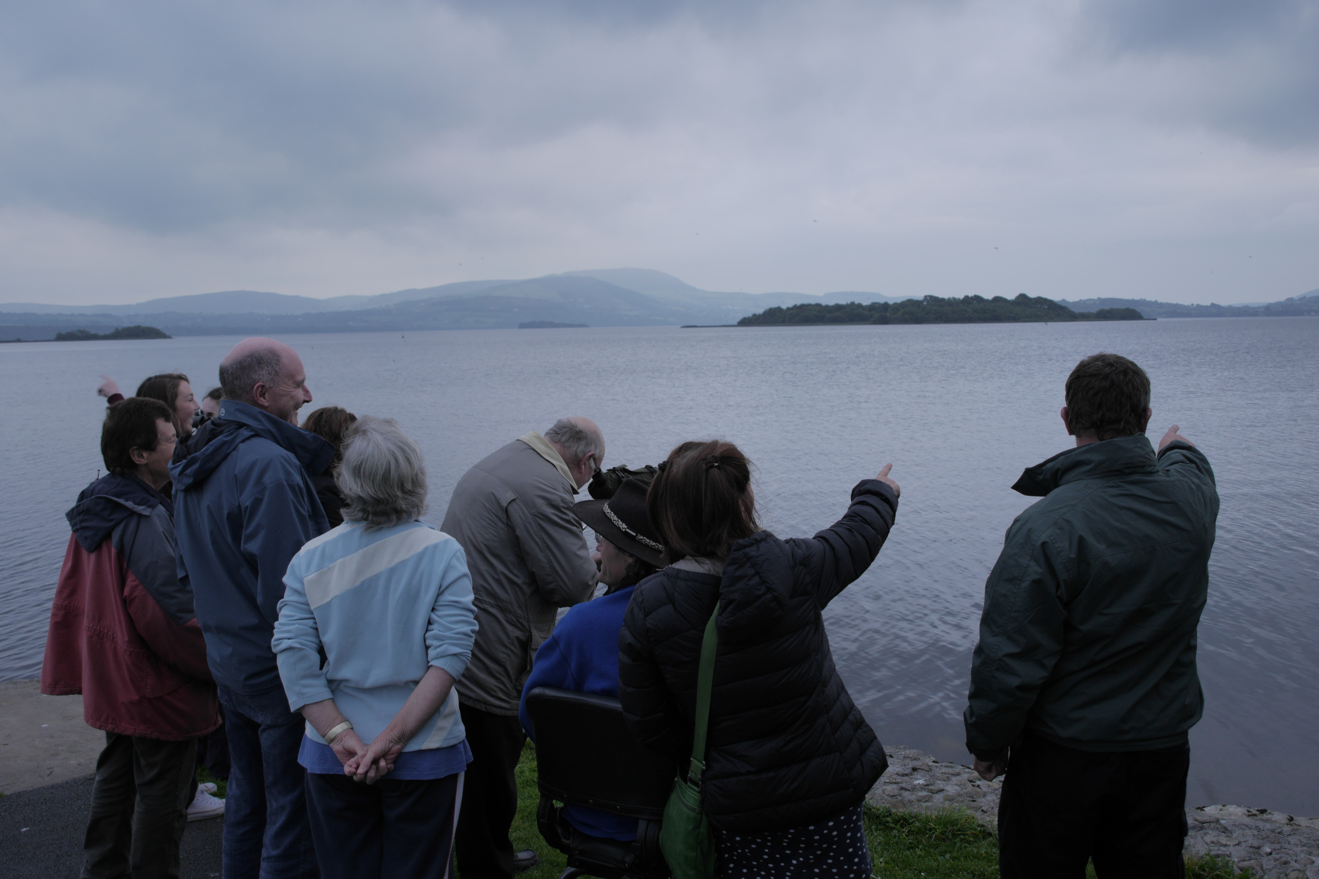 Members of the public who participated in the recent Lough Derg Heritage Trail event. Photograph by Andrew Power
