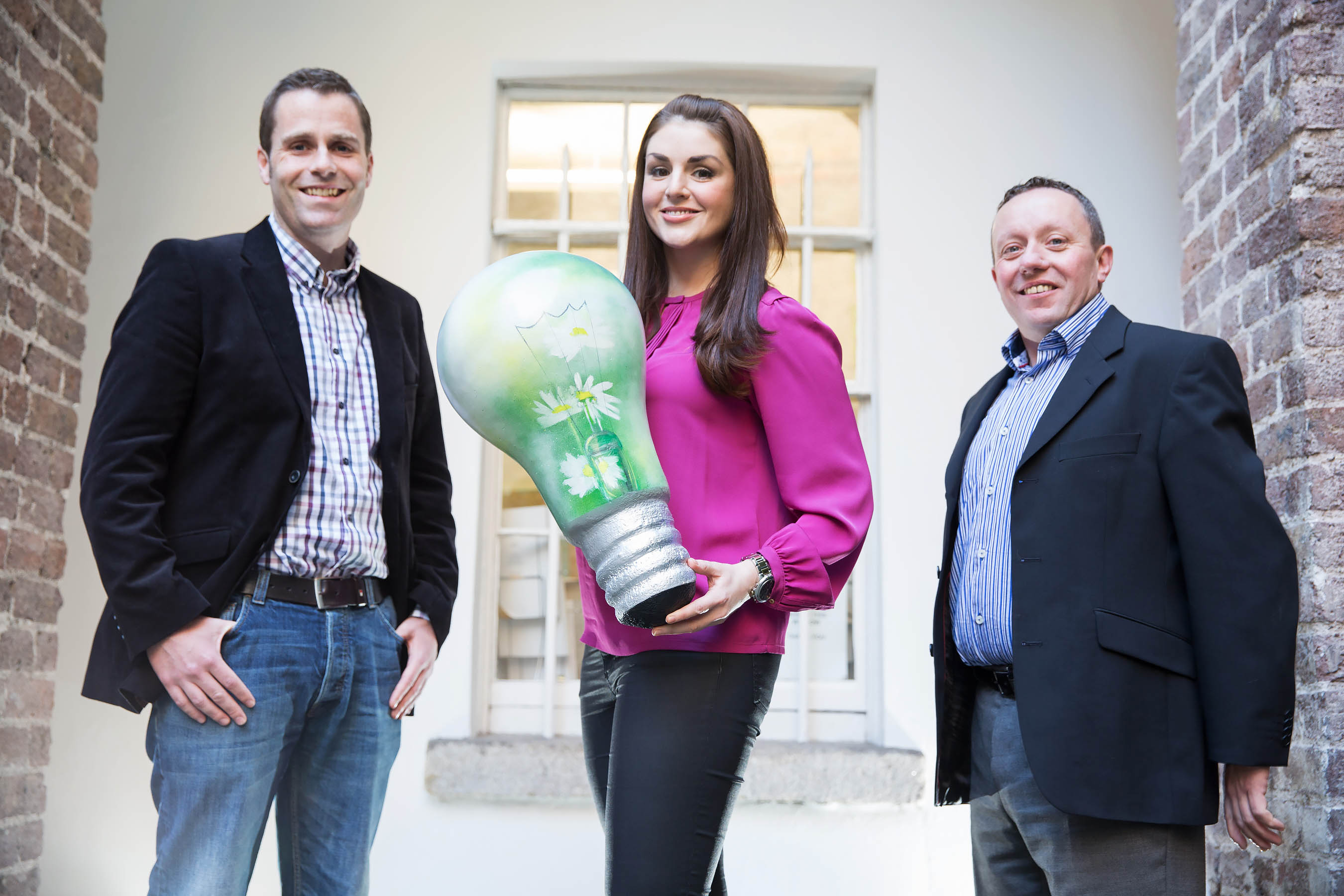 Pictured Cormac McCarthy (L) and Peter Brigdale, An Sean Dún Green Community; with TV and radio personality & Head of the Judging Panel, Síle Seoige . Pic Paul Sharp/SHARPPIX