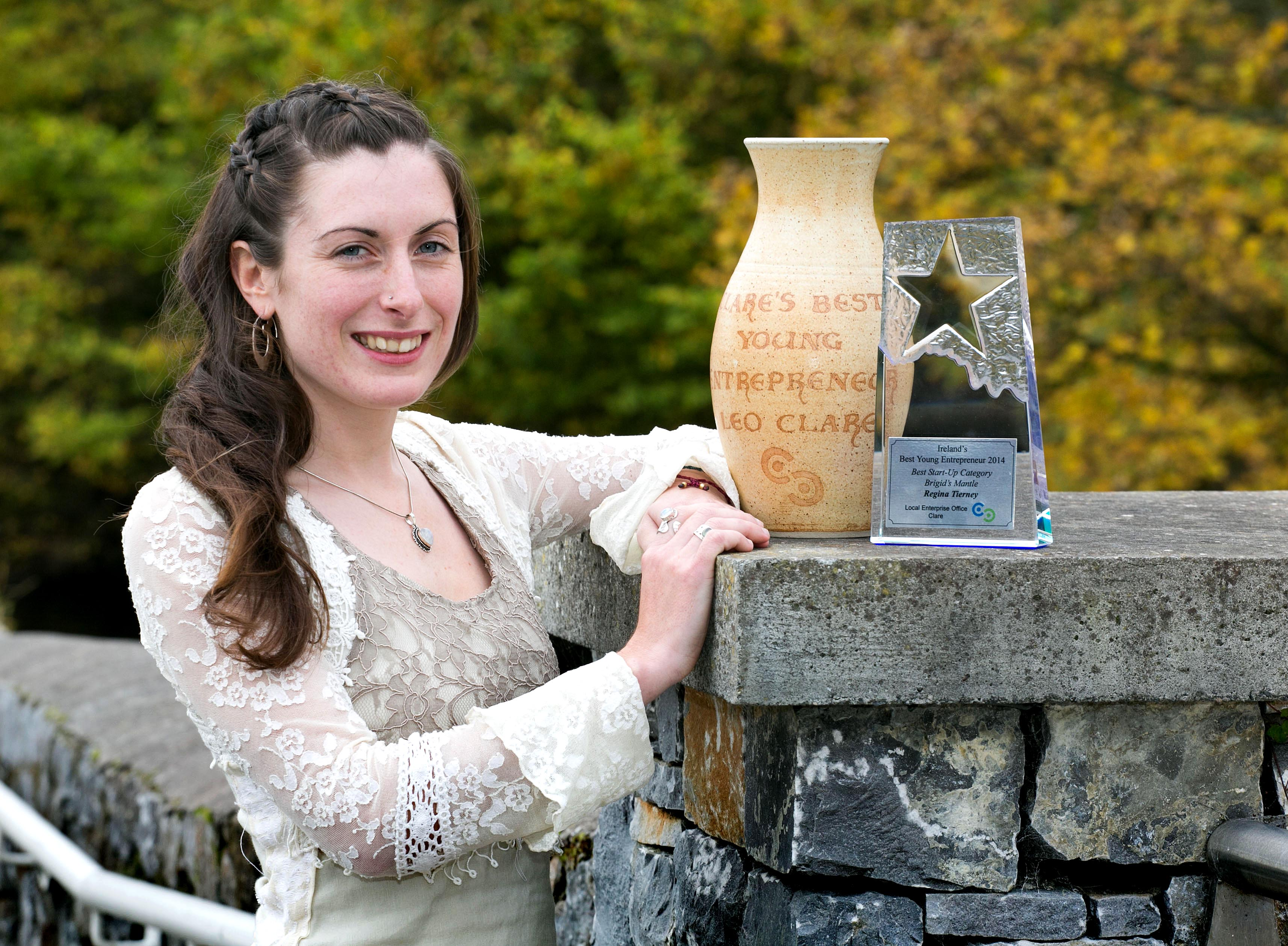 Pictured with her awards in Ennis Co Clare is Regina Tierney. Pic Arthur Ellis.