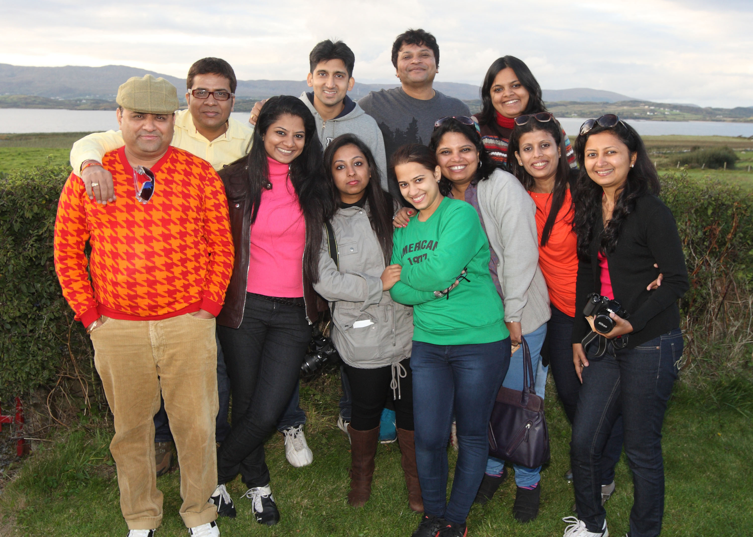 Indian tour operators with Nilam Patil, Tourism Ireland (third left), checking out the Wild Atlantic Way.