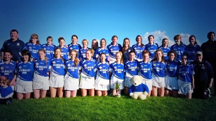 Senior Camogie Champions for 2014, Kilmaley. Photo courtesy of Kilmaley Camogie Twitter (@kilmaleycamogie)