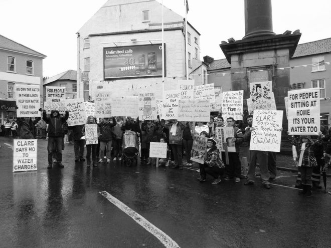 Ennis water protest