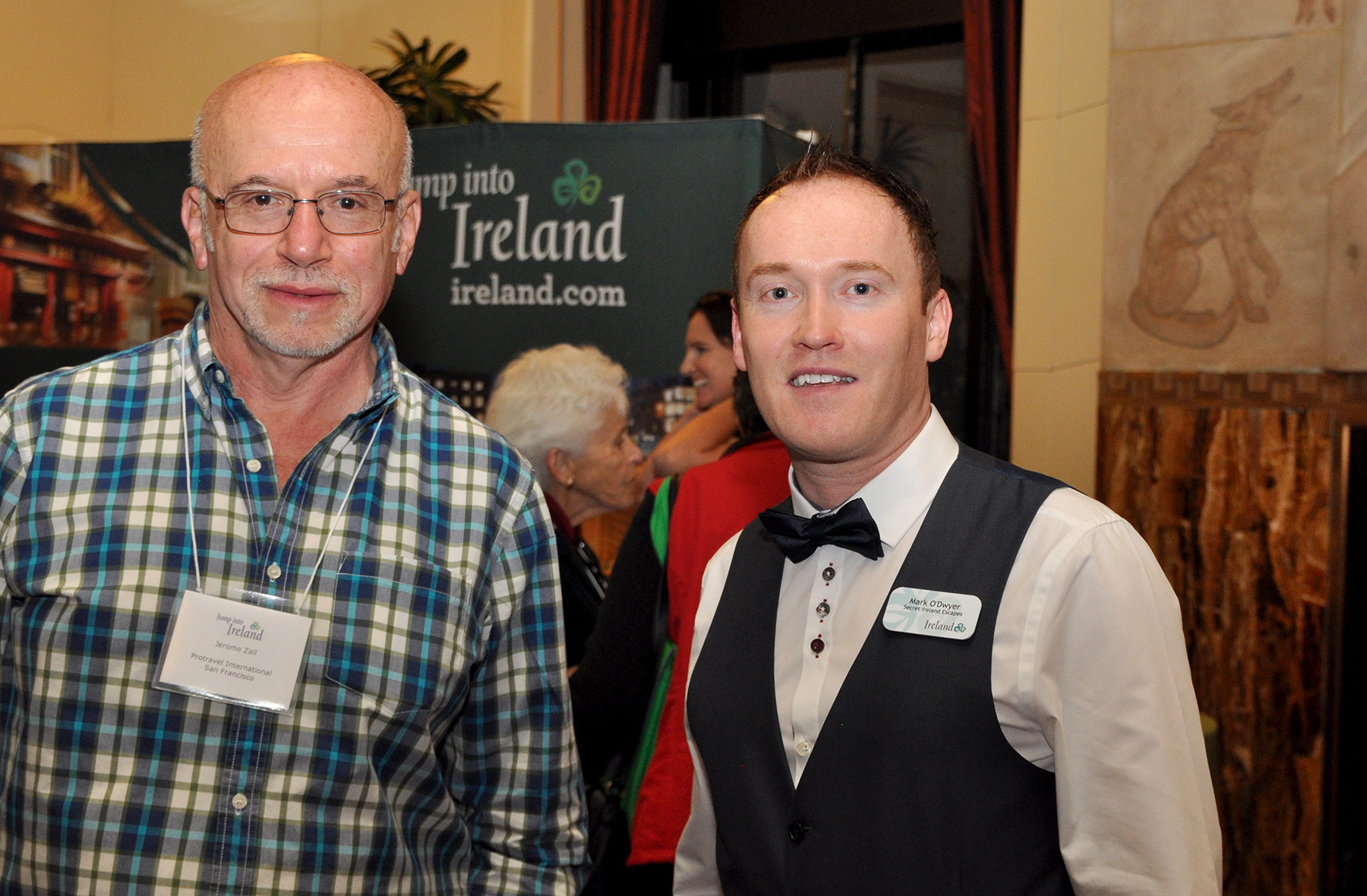 Mark O'Dwyer, Secret Ireland Escapes, based in Killaloe (right), meeting with a travel agent at Tourism Ireland's 'Jump into Ireland' (JITI) event in San Francisco.