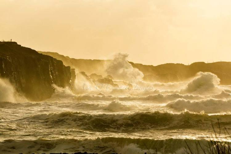 Stormy seas near Spanish Point, Co. Clare. Photo Ann O'Connell Images