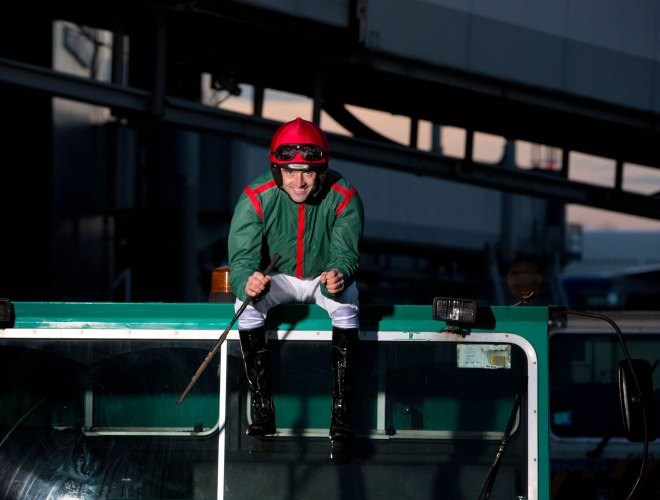Jockey Ruby Walsh at the launch of the Shannon Airport Christmas racing festival that runs from the 26th to 29th of December at Limerick Racecourse, Greenmount Park. Pic Sean Curtin Photo.