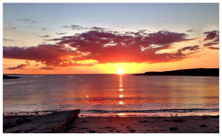 Sunset at White Strand, Miltown Malbay, Co. Clare. Photo by John Flynn