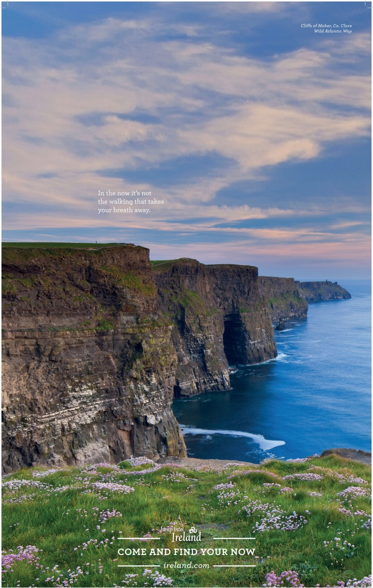 liffs of Moher image featured in Tourism Ireland's 'wrap' of the Daily Telegraph in Britain.