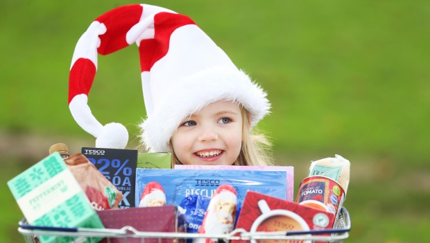 Emma Doherty helps launch the Food Appeal with Tesco