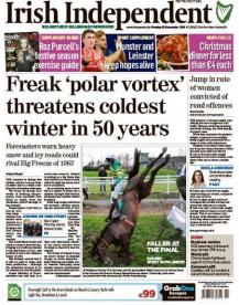 Monday's Irish Independent front page