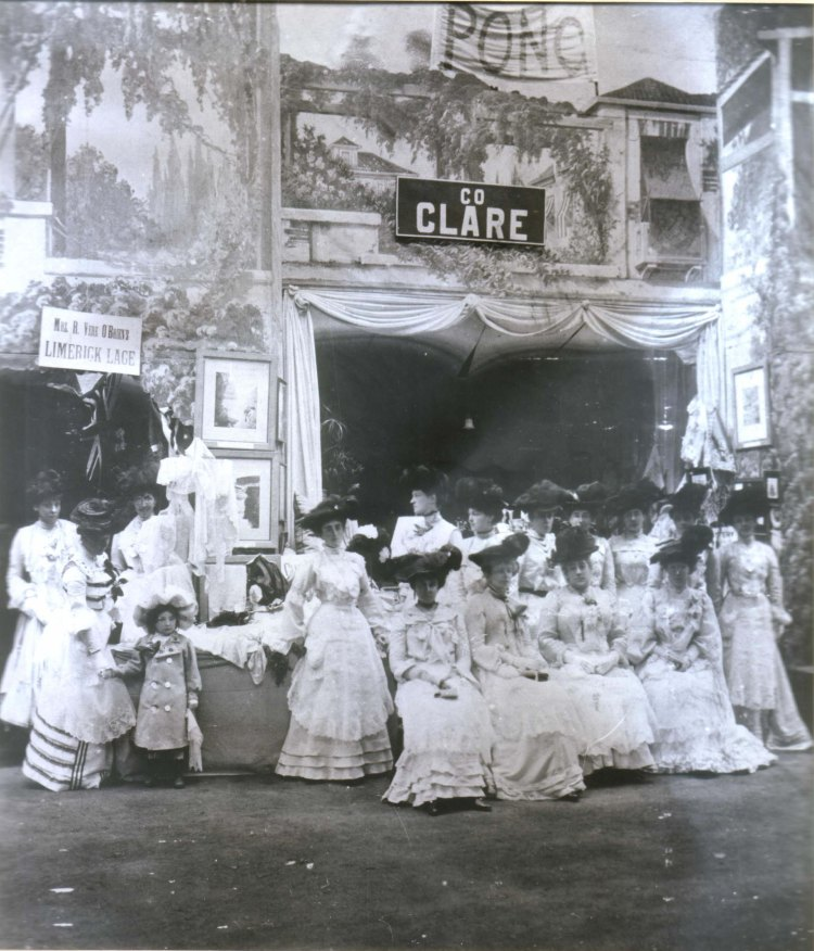 Limerick lace displayed at the Clare Stall at a fete in aid of the City of Dublin Hospital, c 1900 CREDIT: Veronica Rowe/Limerick Museum and Archives