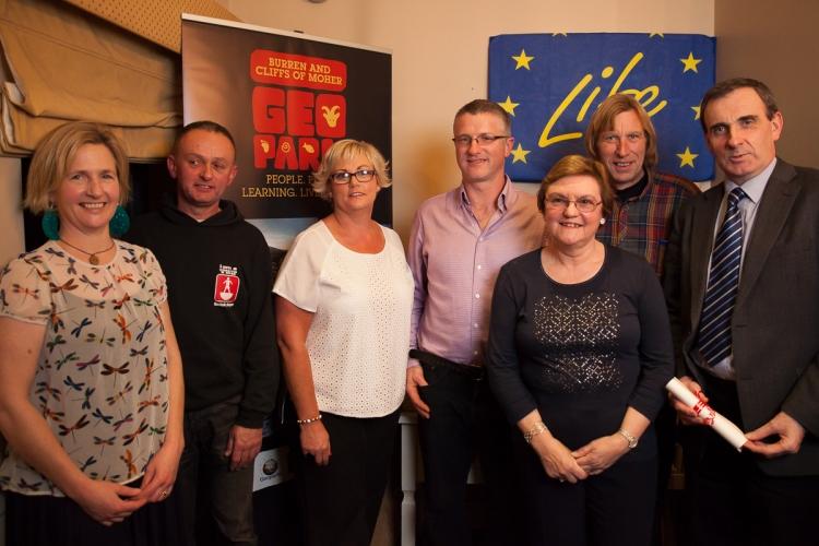 Mary Birmingham, Tony Kirby, Darra & Niall Hughes, Chris O'Neill, John Ryan, Ger Dollard. Photo Philip Gousseau