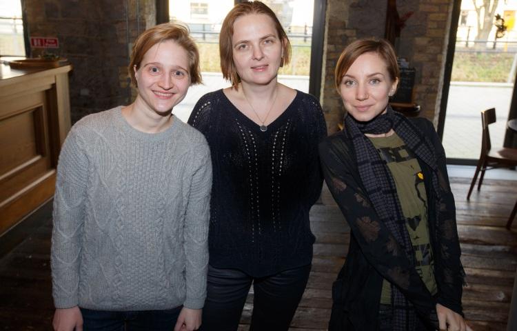 (l-r) Natalia Bredun, Harper's Bazaar; Ivashchenko Antonina, S7 Magazine; and Eliza Gorbunova, Tourism Ireland.