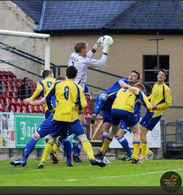 Shane Cusack in action for Limerick FC
