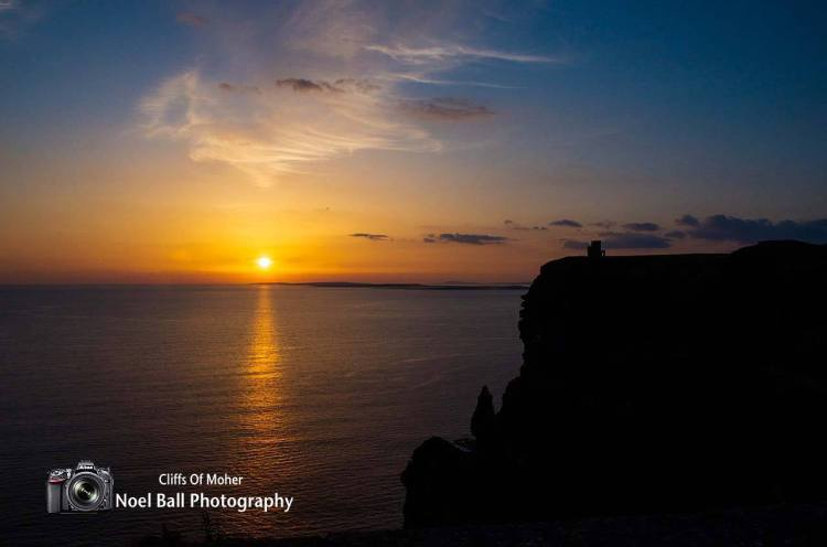 Sunset at the Cliffs of Moher, one of the key discovery points along the Wild Atlantic Way. Photo by Noel Ball