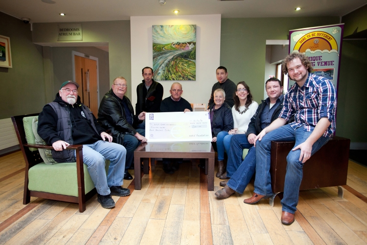 From left: Jimmy Boyle, John Flaherty, Michael Burke, Willie McGrath, Teresa Flaherty, Mark Clancy and Michelle Joyce, James Clancy and Danny Scullion. Photograph by Yvonne Vaughan.