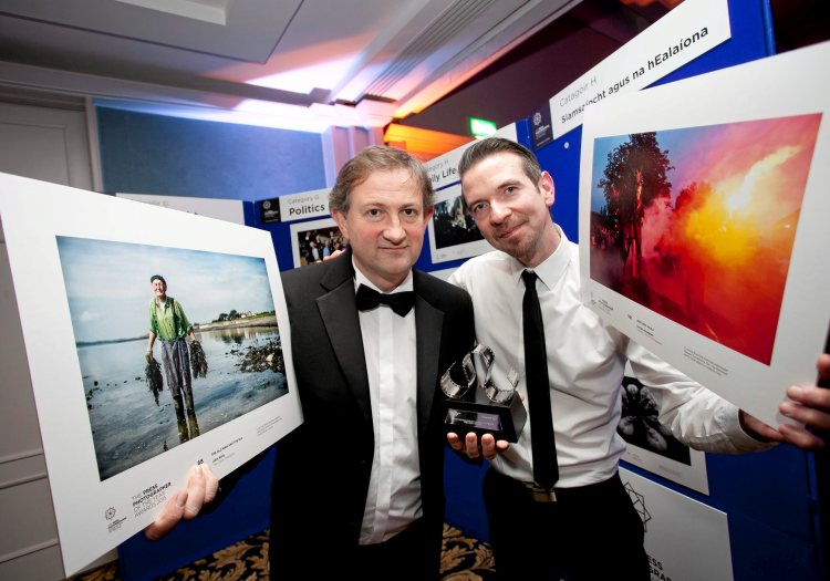 John Kelly, Clare,  and Declan Monaghan, Galway, at the Press Photographers Association of Ireland - Press Photographer of the Year Awards 2015, Ballsbridge Hotel, Pembroke Road. Picture credit: Chris Bellew / Fennell Photography