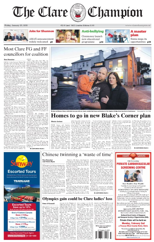champion clare front page