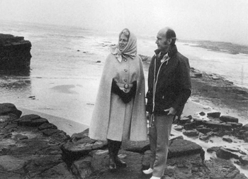 Paddy and Maeve at Spanish Point.  Courtesy of National Library of Ireland
