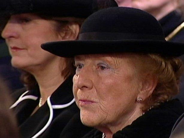 Dr Maeve Hillery pictured at the State funeral of former President and her husband Patrick Hillery