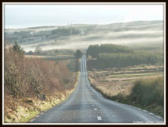 Early morning mist in the valley beneath The Hand hill on Mount Callan. Photo Cottage Garden Centre - Lisa Byrne