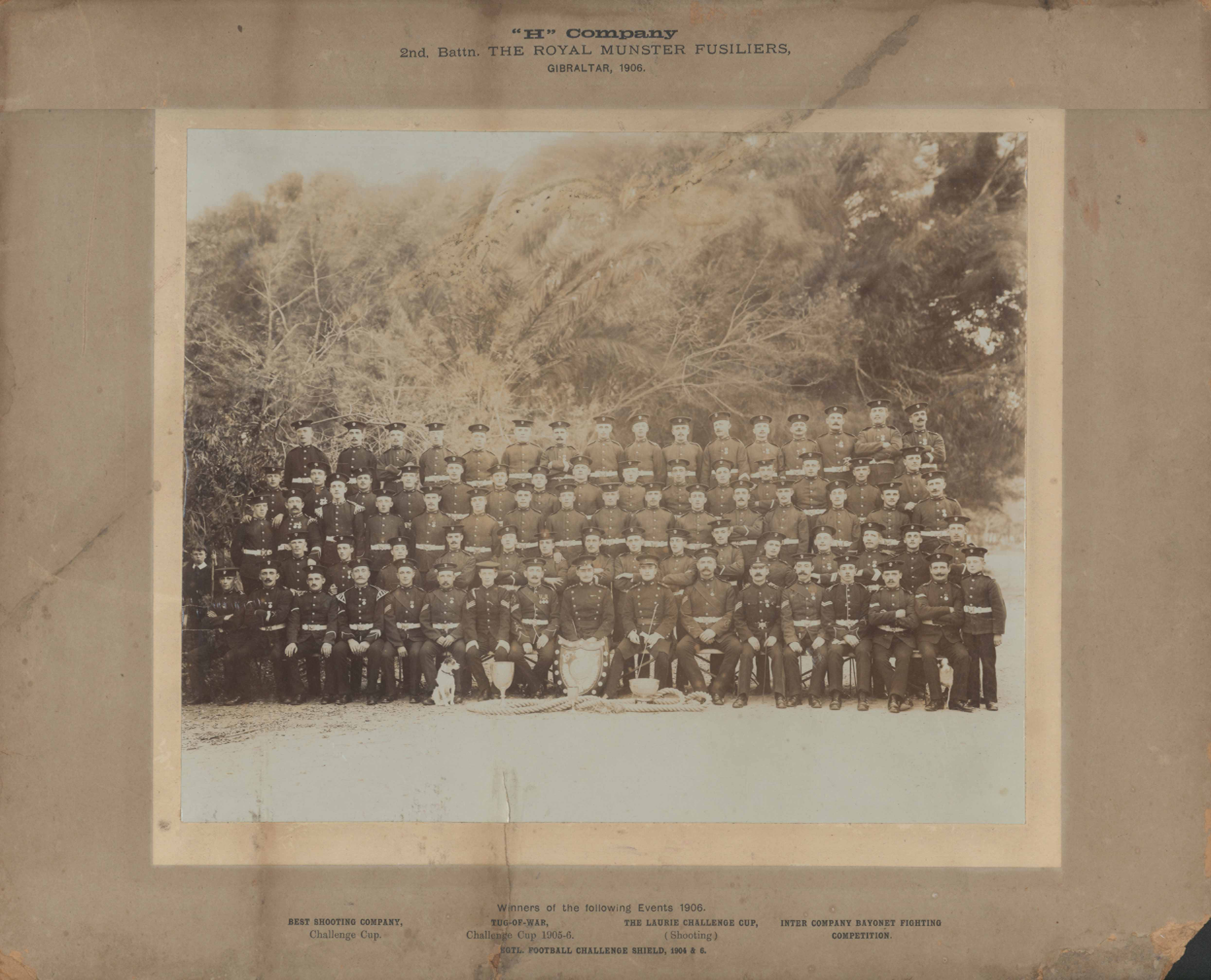 H Company, 2nd Battallion The Royal Munster Fusiliers in Gibraltar 1906