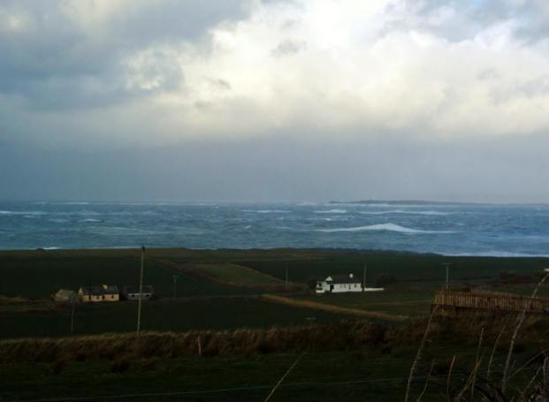 SOMETHING WICKED THIS WAY COMES: Overlooking White Strand, Doonbeg. Photo Maureen Tevlin